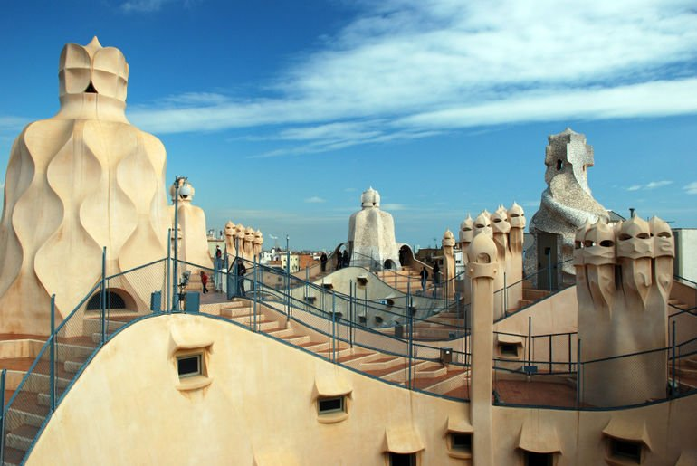Casa Milà (aka La Pedrera) Chimney of Warriors - Antoni Gaudi Guide to Barcelona
