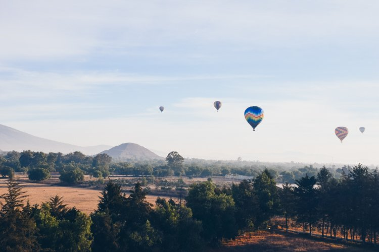 Hot air balloon tour Teotihuacan Pyramid - 20 Photos Inspire You to Visit Mexico City, Mexico