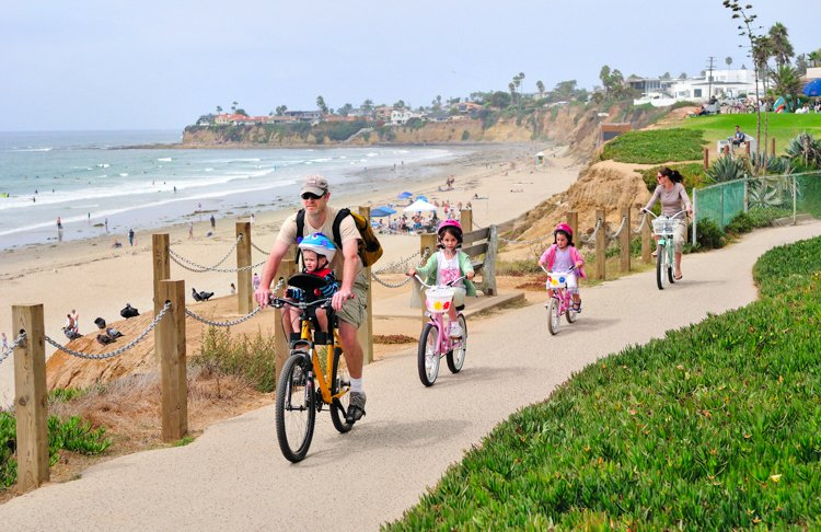 San Diego's Best Outdoor Adventures - Bike the Pacific Beach Boardwalk