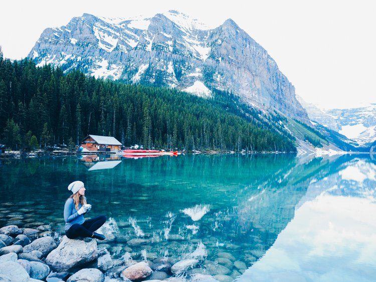 Visiting Lake Louise, Banff National Park, Alberta Canada