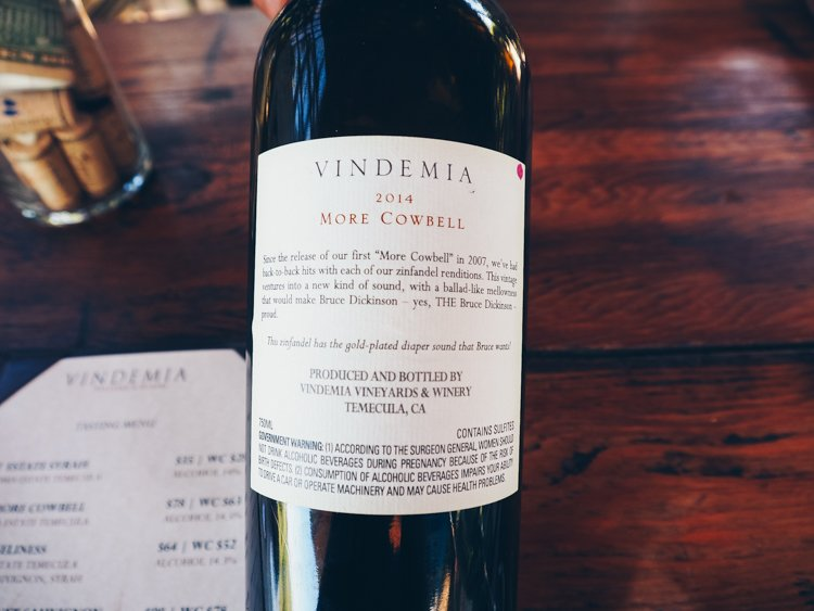 MORE COWBELL - Wine Tasting Vindemia Vineyard and Winery
