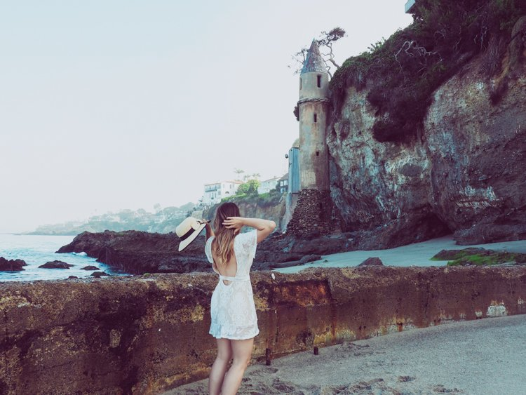 Pirate Tower, Laguna Beach - How to Take Amazing Photos of Yourself when Traveling Solo