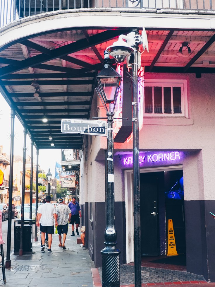 Bourbon Street - The French Quarter - Visiting New Orleans