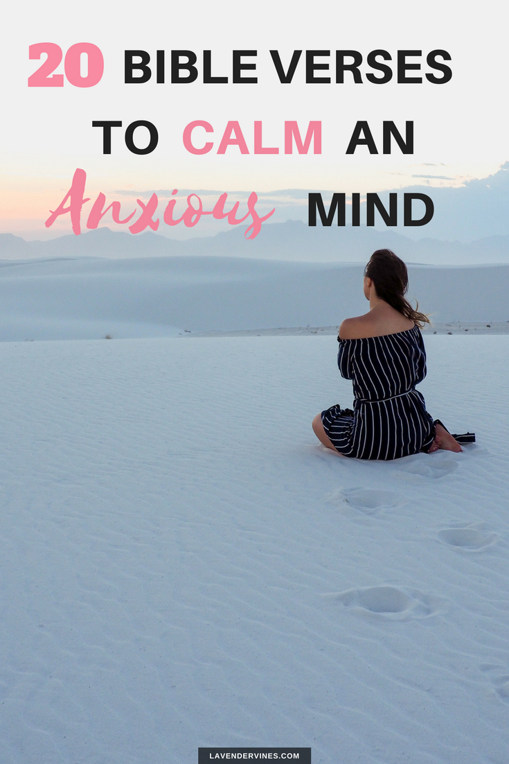 20 Bible Verses to Calm an Anxious Mind