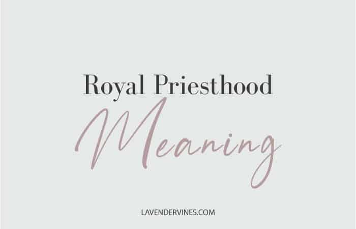 Royal Priesthood Meaning