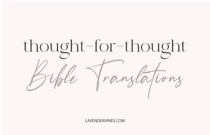 Thought for Thought Translations of the Bible